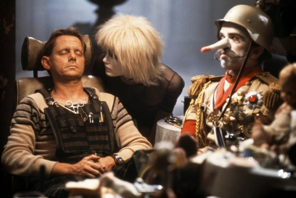 J.F. Sebastian, with Pris and one of his friends.